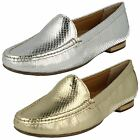 Van Dal Cherry Silver Or Gold Metallic Snake Print Leather Slip On Loafers