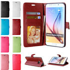 Card Holder Leather Flip Wallet Case Cover Stand Floral For Samsung Galaxy Phone for sale  Shipping to Canada