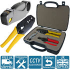 CCTV SYSTEM INSTALLER CABLE Wire ROTARY STRIPPER Cutter BNC CRIMPING TOOL KIT UK