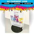 A2 Swinging Pavement Sign, Black or White Frame Options, Waterproof.