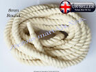 8mm 100% Pure Natural Cotton Rope 3Strand Braided Twisted Craft Cord Sash Twine