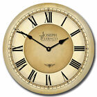 "Waterford LARGE WALL CLOCK 10""- 48"" Whisper Quiet Non-Ticking WOOD HANDMADE"