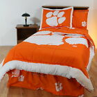 Clemson Tigers Comforter Sham & Blanket Twin Full Queen King CC