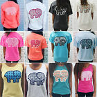 Women Boho Elephant Printed T-shirts Long Sleeve Blouse Graphic Tee Casual Tops