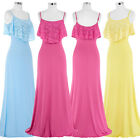 CHEAP New Ladies Lace Long Prom Evening Bridesmaid Beach Formal Cocktail Dress