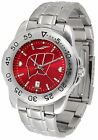 Wisconsin Badgers Watch Anochrome Color Dial Ladies or Mens