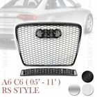 RS6 HONEYCOMB SPORT FRONT MESH HOOD GRILLE for AUDI A6 C6 2005-2011 3 VERSIONS