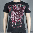 Affliction COMANCHE A7949 Men's T-shirt Tee Black Lava Wash