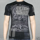 Affliction FAST TRACK  A10206 Mens T-shirt Tee Black Lava Wash