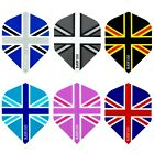 UNION JACK DART FLIGHTS - RAW100 TOUGH FLIGHTS - 6 DESIGNS - THICK - 1/5/10 sets