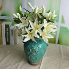 Rose Silk Lily Flowers Bouquet Craft Bridal 3 Heads Decoration JEW Nice Gift HOT