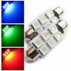 Uk 2x C5w 31 36 38 41mm Car Interior Red/green/blue Festoon Led Smd Bulb