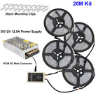 5M-30M 5050 Dream Color Magic RGB LED Strip +133 IC6803 RF Remote+Power adapter