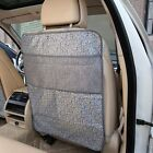 Faux Leather Car Seat Covers Headrests Storage Bag For Children Kick Floor Mat