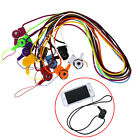 Colorful Detachable Ring Neck Strap Lanyard for Cell Phone ID Card Holder 2 in 1