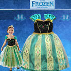 Green Frozen Princess Anna Princess Fancy Dress Costume Kids Skirt Girls Hot