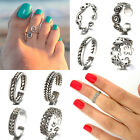 Wholesale Lots Silver Plated Toe Ring Midi Rings Adjustable Foot Beach Jewelry