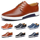 Fashion Men Casual Lace Up Genuine Leather Business Dress Shoes Moccasin