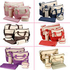 5pcs in 1 Cute Baby Nappy Changing Diaper Bags Large Size High Quality Set