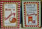 """MOM'S LAUNDRY HELP WANTED SIGN WOOD LAUNDRY ROOM DECOR 2 STYLES 7.8"""" x 11.75"""""""