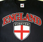 Euro Championships 2016 England Flag Forever Logo Men T-Shirts Sizes Small-XXL