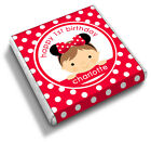 Personalised MINNIE MOUSE Girl's 1st 2nd Birthday Party Bag Favour Chocolates
