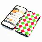 For Apple iPod Touch 5th Gen Hybrid 2-in-1 Cover Case Light Checks Pattern