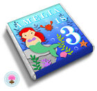 Personalised Little MERMAID Girl's 2nd 3rd 4th Birthday Party Favour Chocolates