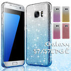 Bling Glitter Silicone TPU Rugged Case Cover for Samsung Galaxy S7 edge S8 Plus