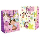 Happy Birthday Party Fairy Princess Design Gift Bags (Medium,Large,Extra Large)