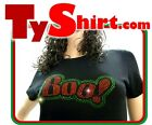 Tee Shirt Femme Hell Head  Boo !!  Strass,  Vintage, brillant, USA Stars
