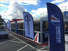 Professional customised motorsport feather flags - racing, karting, cars & bikes