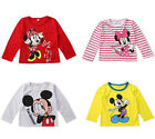 Cartoon Minnie Mickey Mouse Bebé Niña Niño Blusas Suéter Camisa
