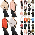 NE PEOPLE Womens Basic Classic Quilted Various Styles Bomber