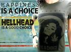 Tee Shirt Femme Hell Head  Happiness is a Choice KAKI, Mode, Vintage, cannabis