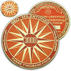 3000 Finds Geo-Milestones Geocoin And Pin Set - Award Your Geocaching Success