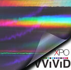 Vvivid Black Holographic Chrome 3mil Vinyl Car Wrap Decal