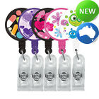 Pattern Retractable Pocket Clip [5 Pack] - | Reel | Office ID Holder | Keys