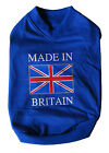 """Fun Dog T-Shirt. """"Made in Britain"""" logo. Blue. NOW REDUCED PRICE. Sizes 8 - 26"""""""