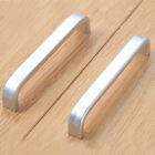 Space Aluminum Simple Pull Handles Knobs for Chest Cabinets Door Drawer Silver