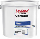 15 Litre Bucket of Matt White / Magnolia Leyland Contract Emulsion Paint 15L