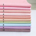 50cm*160CM Gingham ChecKed 100%cotton fabric Quilting Quilt Cloth Bedding Sewing