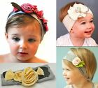 STUNNING UNUSUAL COTTON GIRLS BABY FLOWER HEADBAND