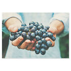 Fabric Print Wall Hanging Poster Printing Hands With Grape Fruit Picture Photo