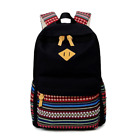 Women Men Canvas School Book Handbags Printing Matching Backpack Casual Bags