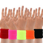Neon Bright Coloured Pair of Wrist Sweatband 80's Fancy Dress Accessory