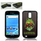 For Samsung Galaxy S2 T989 Hybrid 2-in-1 Phone Cover Case Soldier Zombie