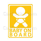 "1 x 6"" Baby on Board vinyl car window sticker decal /B"