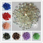 5mm Resin Rhinestone Flatback 14 Facets Scrapbook Nail Art DIY SS20 Multi Colors