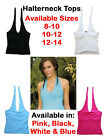 Womens Halterneck Vest Top, Ladies Summer Sports Going Out Halter Neck Top